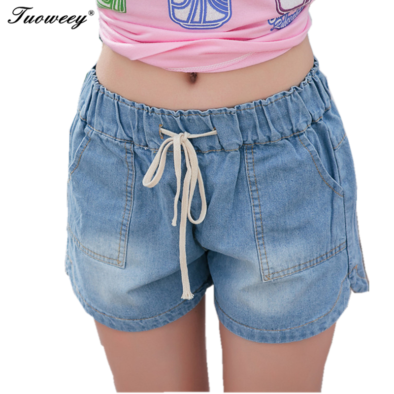 7XL New spring 2019 fashion shorts women denim female shorts solid blue short Jeans hole Style plus size for women a shorts 862