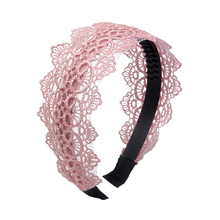 Women Lace Hair Bands Girls Hollow Flower Headband Floral Boutique Hoops Tiara Accessories