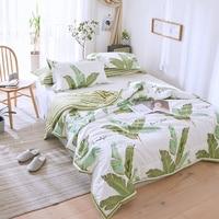Cartoon Tropical Style Summer Comforter Sets Cotton Bed Linens Pink Quilt Pillowcase Twin Full Queen Size Boys Girls Bedding Set