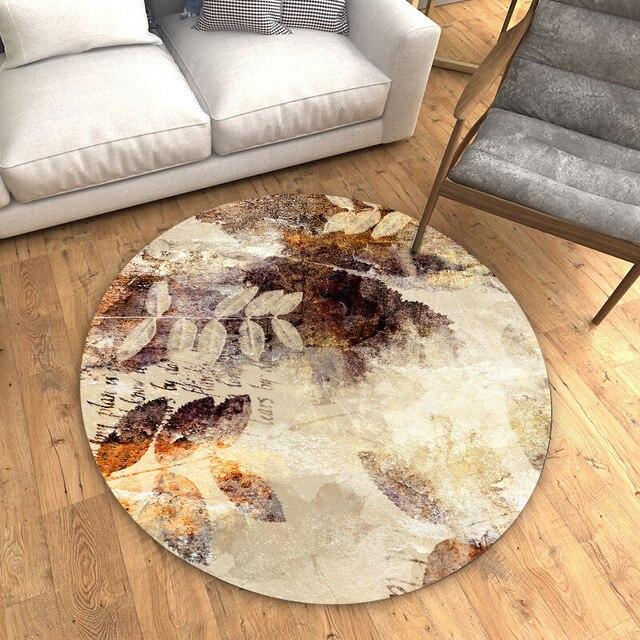 Kunst Kreative 3d Runde Tisch Renovierung Aufkleber Pvc Dekoration Boden Film Wasserdicht Nicht Slip Bad Wohnzimmer