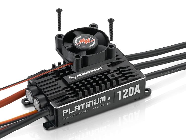 1 pc Original Hobbywing Platinum Pro V4 120A 3-6 S Lipo BEC vide moule sans balai ESC pour hélicoptère avion Drone RC