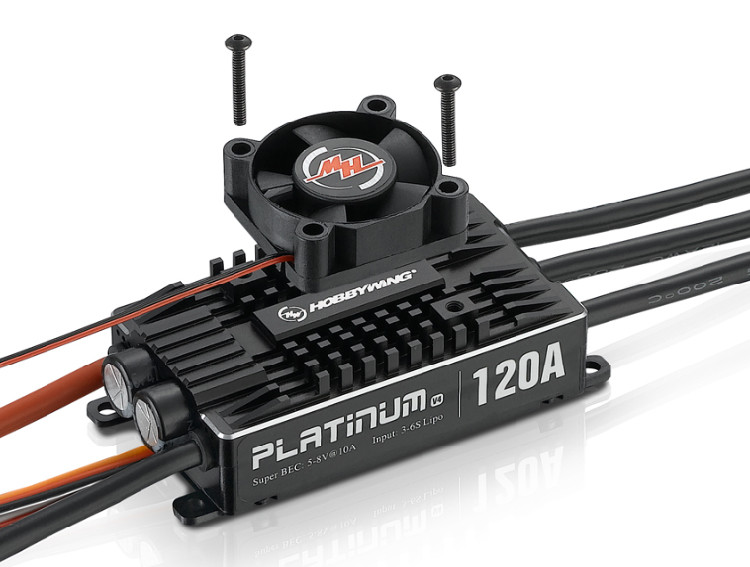 1 pc oryginalna obsługi Hobbywing Platinum Pro V4 120A 3 6 S Lipo BEC puste formy bezszczotkowy ESC dla RC drone samoloty helikopter w Części i akcesoria od Zabawki i hobby na  Grupa 1