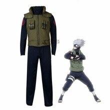 アニメnaruto ナルト はたけカカシコスプレ衣装ハロウィン服ベストシャツパンツグローブヘッドバンドかつらセットカスタムメイドのサイズ