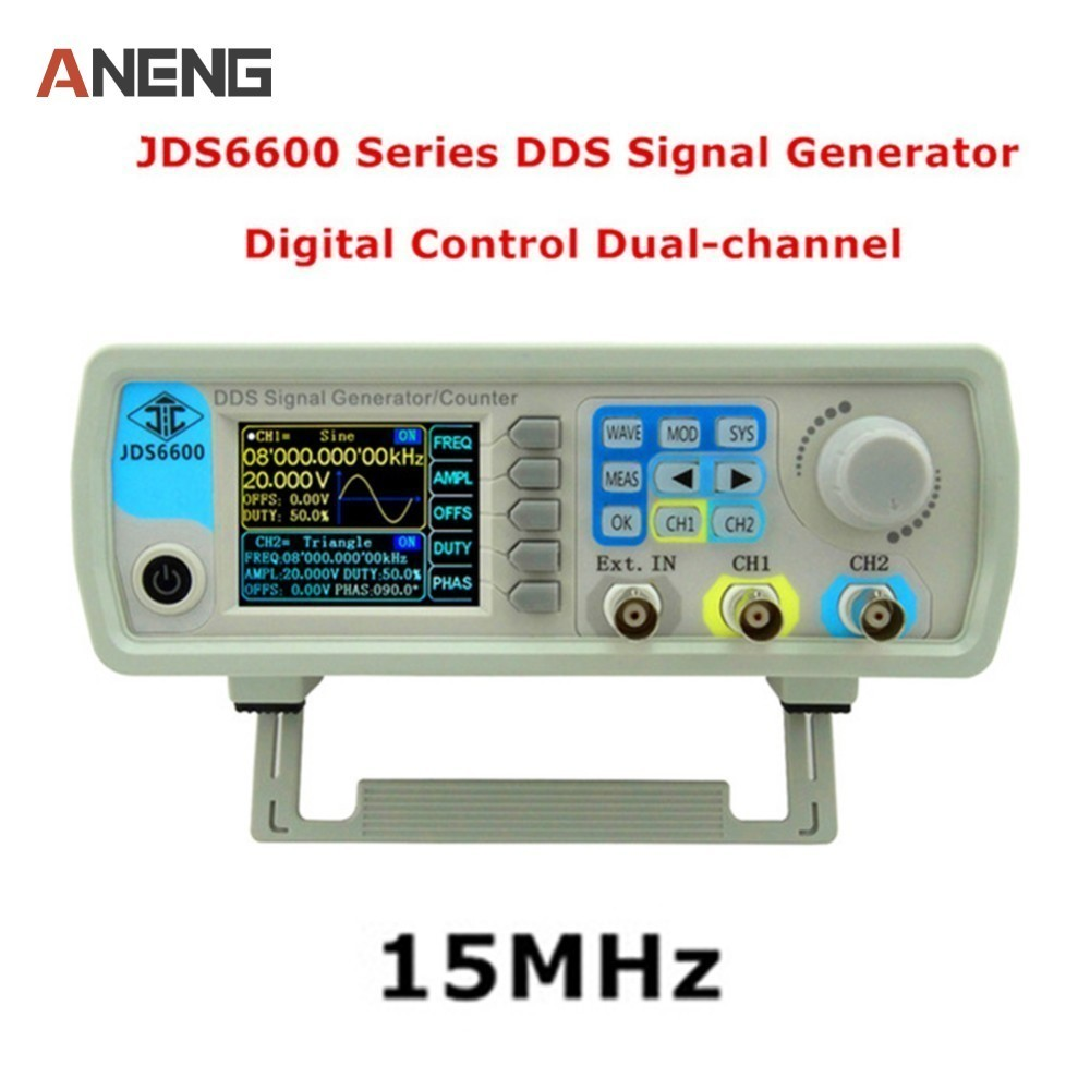 JDS6600 Series MAX 60MHz DDS Function Signal Source Digital Control Dual Channel Arbitrary Wave Function Generator