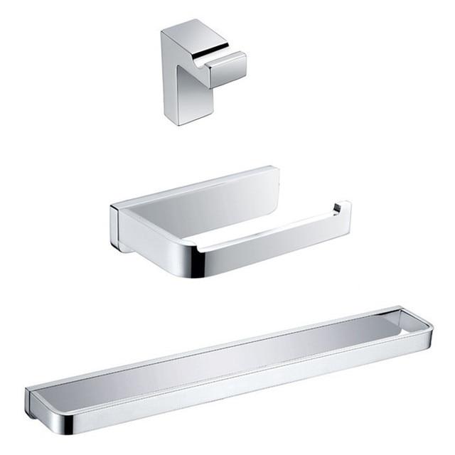 Hot Sale Bathroom Hardware Set Square Bath Toilet Set Roling - Bathroom hardware sale