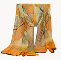 chiffon scarf printed chains pattern scarves fashion shawl for women