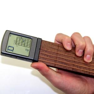 Image 5 - Electric Guitar Practice Tools Portable 6 Tone Pocket Guitar Gadgets Aerial Guitar Finger Exerciser display of Fingering