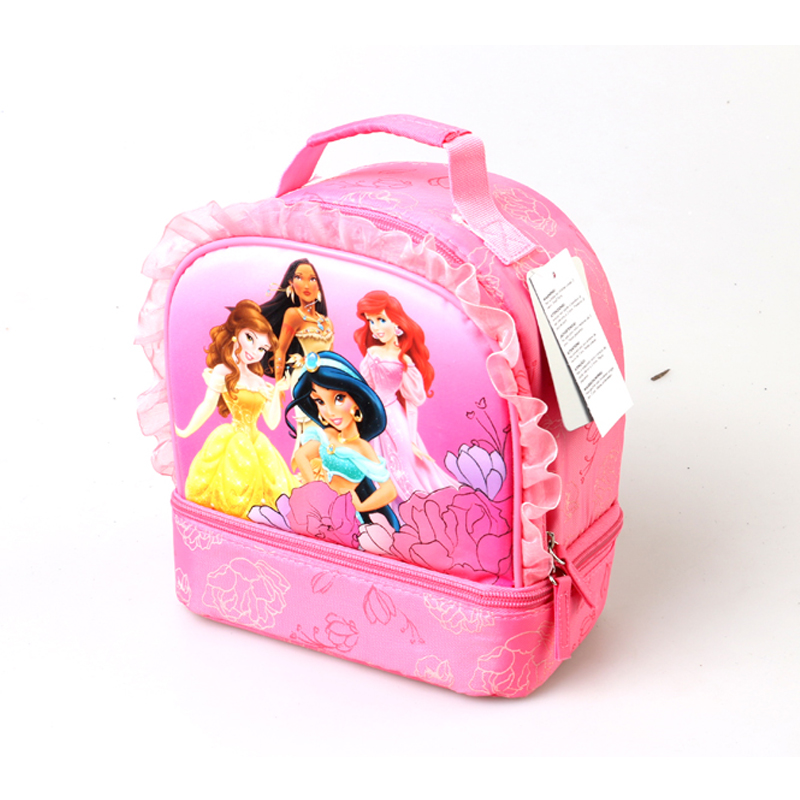 a30732e2bd47 US $16.0 |Princess Little Mermaid Jasmine Dual Compartment School Insulated  Thermal Lunch Bag for Kids Girls Tote Cooler Picnic Food Bag-in Lunch Bags  ...