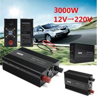 Car Power Inverter 3000W Peak 6000W 6KW Household DC 12V To AC 220V /110V Adapter Charger Modified Sine Wave with Cooling Fan