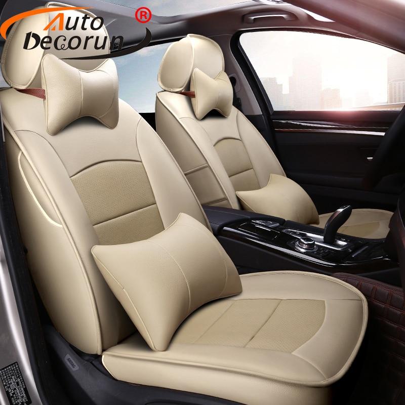 AutoDecorun personnalisé Fit peau de vache couvre siège de voiture pour Cadillac ESCALADE 2007 housse de siège en cuir siège coussin accessoires 22 pièces/ensemble