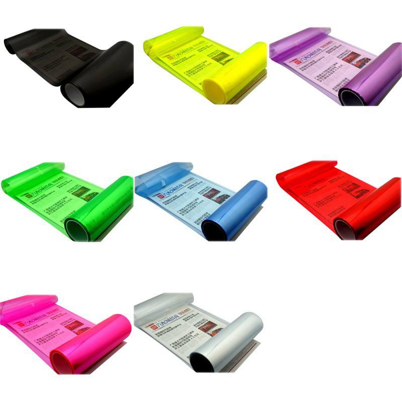 100*30cm Auto Car Light Headlight Taillight Film Sticker Car Foil Easy Stick Car Motorcycle Window Film Stickers Decor 8 Colors