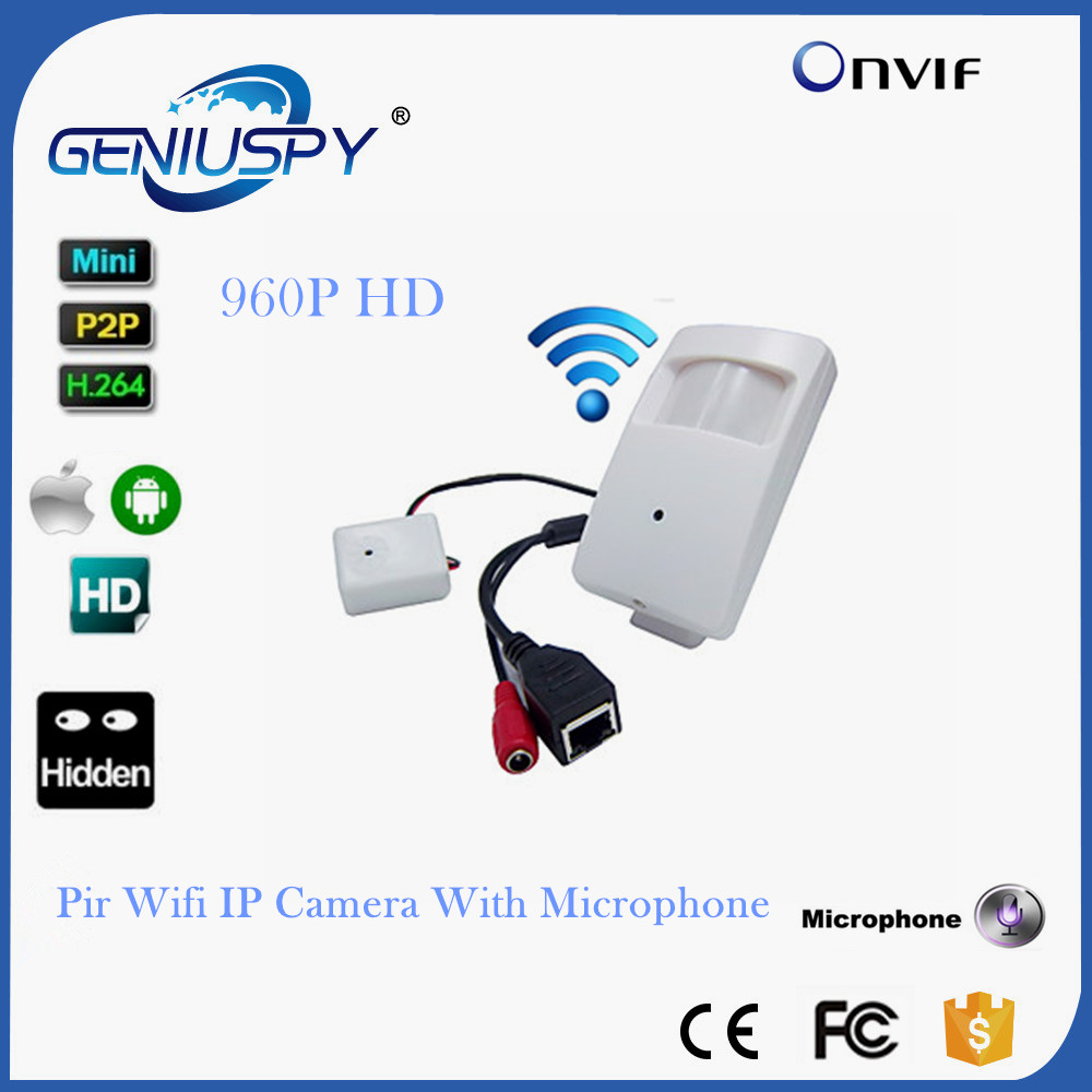 WIFI Mini IP Camera With WIFI Port Covert Camera Motion Detector HD 960P PIR Wireless IP Camera P2P Function Security CAMERA gerber mini covert 22 46924