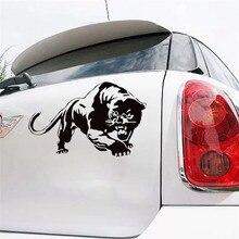 CS-733 #15*23.6cm czarna pantera śmieszne naklejki samochodowe winylowa tablica naścienna srebrny/czarny na naklejki samochodowe stylizacja dekoracji samochodu