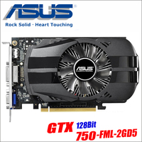 Asus использовали GTX-750-FML-2GD5 GTX750 GTX 750 2G D5 DDR5 128 бит настольных ПК Графика карты PCI Express 3,0 компьютеров Графика карты