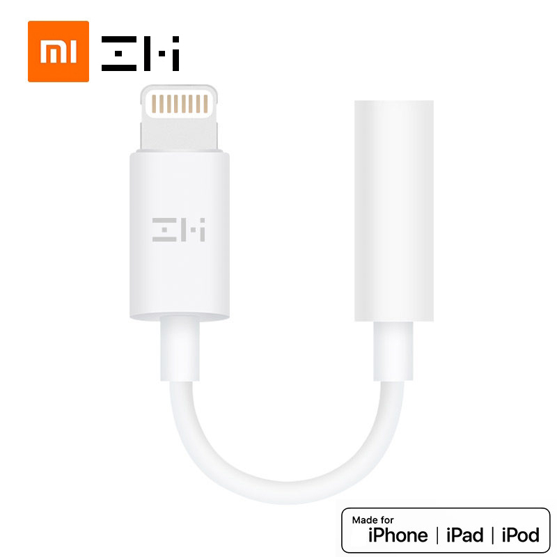 Original Xiaomi Zmi MFI For Apple Lightning To 3.5mm Headphone Jack Adapter For IPhone Xs Max Xr X 8 7 Aux Audio Converter 8 Pin