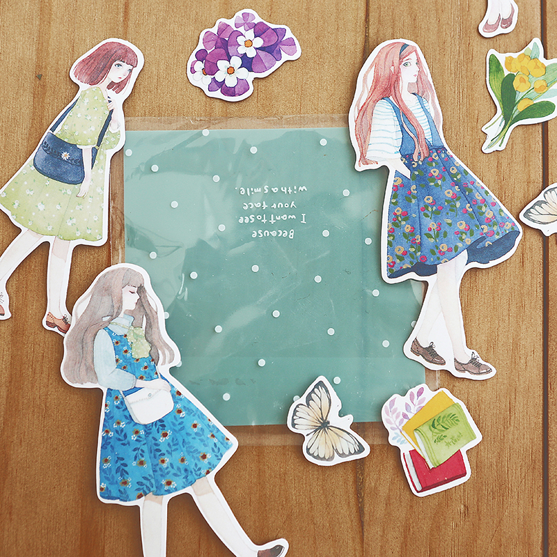 Big Mori Girl Stickers Memo Pad Cute Air Balloon Decoration Label Stickers DIY Scrapbooking Stickers Office & School Supplies