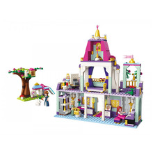 Enlighten Girls Friends Building Blocks Princess Leah Brithday Party Royal kit Bricks Educational Toys for Children gift makita 980408607 1л