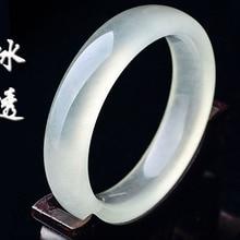 56-62 мм внутренний диаметр класс А высокое качество натуральный нефрит браслет с нефритом драгоценный камень нефрит браслет ювелирные изделия для женщин Подарки