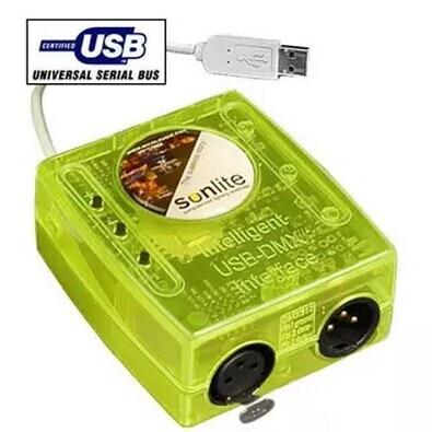 High quality sunlite usb dmx dj light controller 3 pin plug usb software console DMX interface 1024ch with pc moving head lights контроллер dmx sunlite stick de3