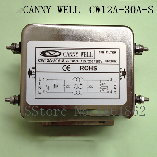 CW12A-30A-S  30A  110V-380V  power supply filter staticizer Electrical Equipment cw4b 30a s emi power filter 380v 30a