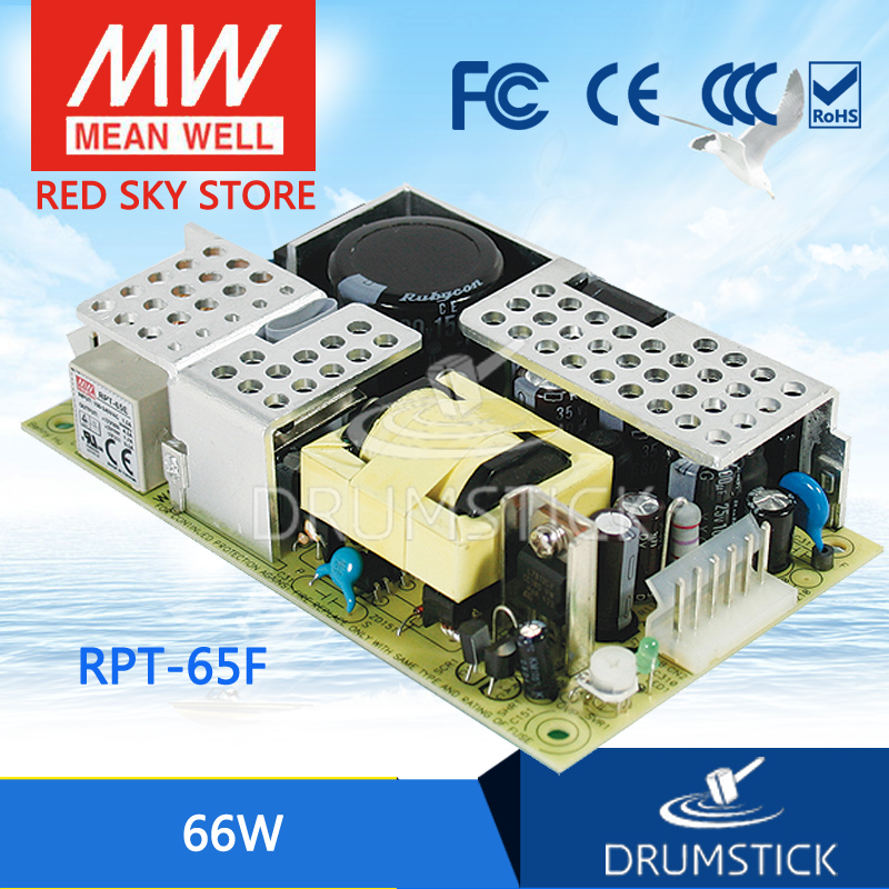 цена на Hot! MEAN WELL original RPT-65F meanwell RPT-65 66W Isolated Dual Output with PFC Function PCB type