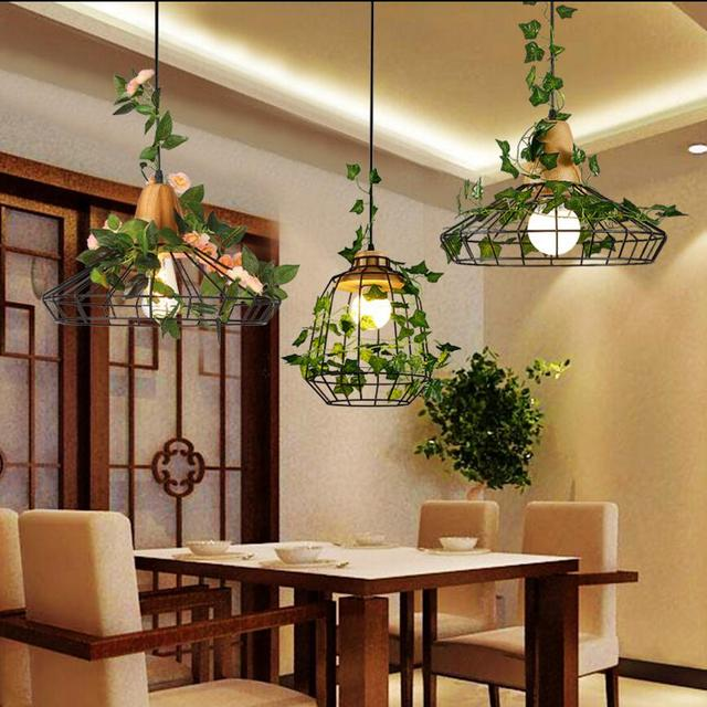 Modern chandelier lamp metal iron wood pendant indoor lighting modern chandelier lamp metal iron wood pendant indoor lighting restaurant sitting room bar store ceiling decorated aloadofball Images