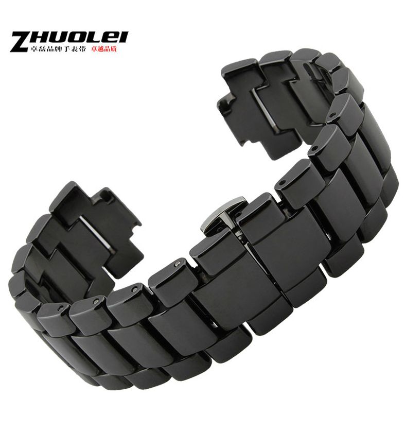 Online 19mm 22mm White Watch Accessories Ceramic Band Strap Bracelets Deployment Buckle For Ar1424 Ar1421 Ar1425 Ar1426 Aliexpress Mobile