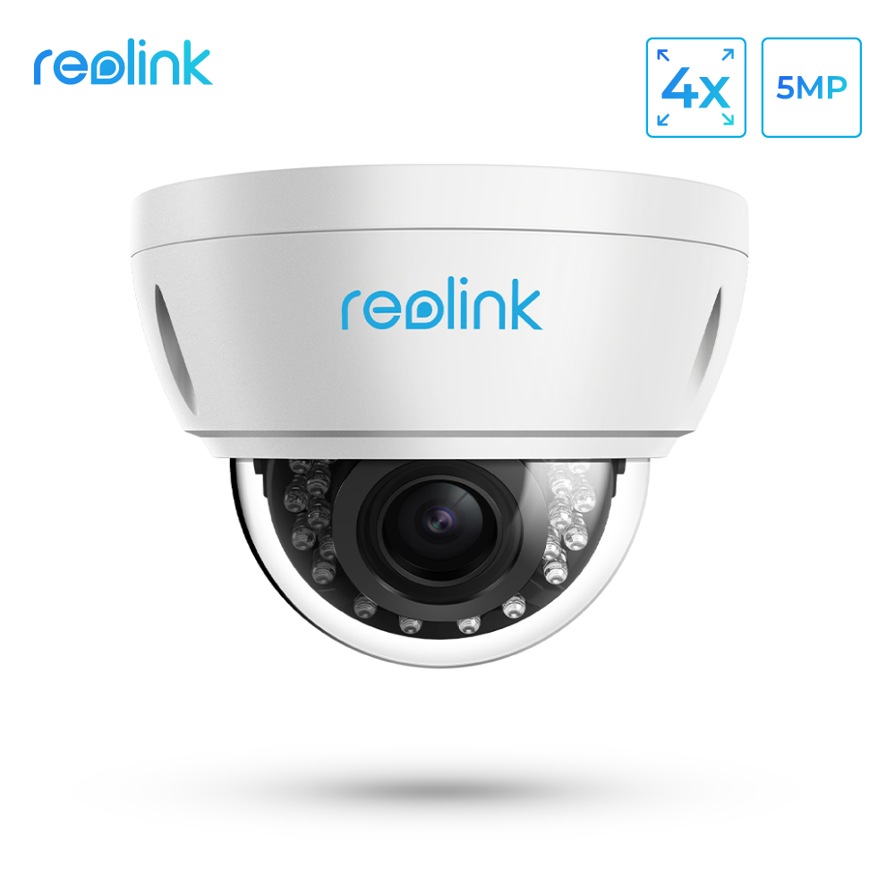Reolink 5MP Security Camera outdoor PoE 4x Optical Zoom Built in SD card Slot Vandal proof