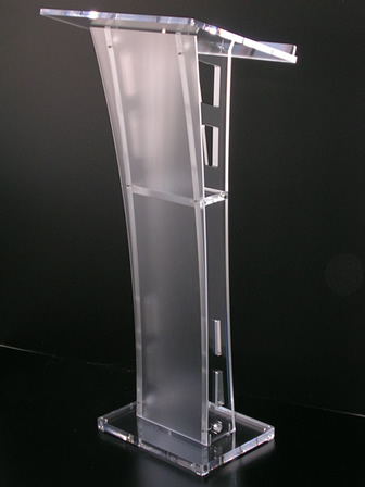 Hot Sell Simple Solid European Design Factory Sell Clear Acrylic Podium Pulpit Lectern Church Lectern