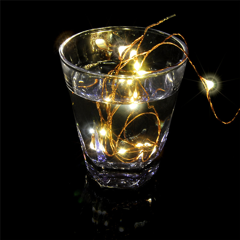 Dimmable LED String Lights 100 LEDs Copper Wire Warm White for Christmas Fairy Valentine ...