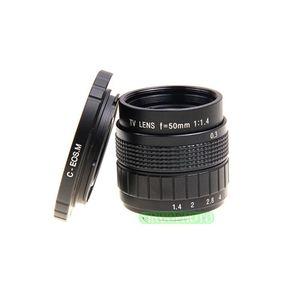 Image 2 - Fujian 50mm F1.4 CCTV lente de TV + C EOS M para Canon cámara sin espejo EOS M M2 M3