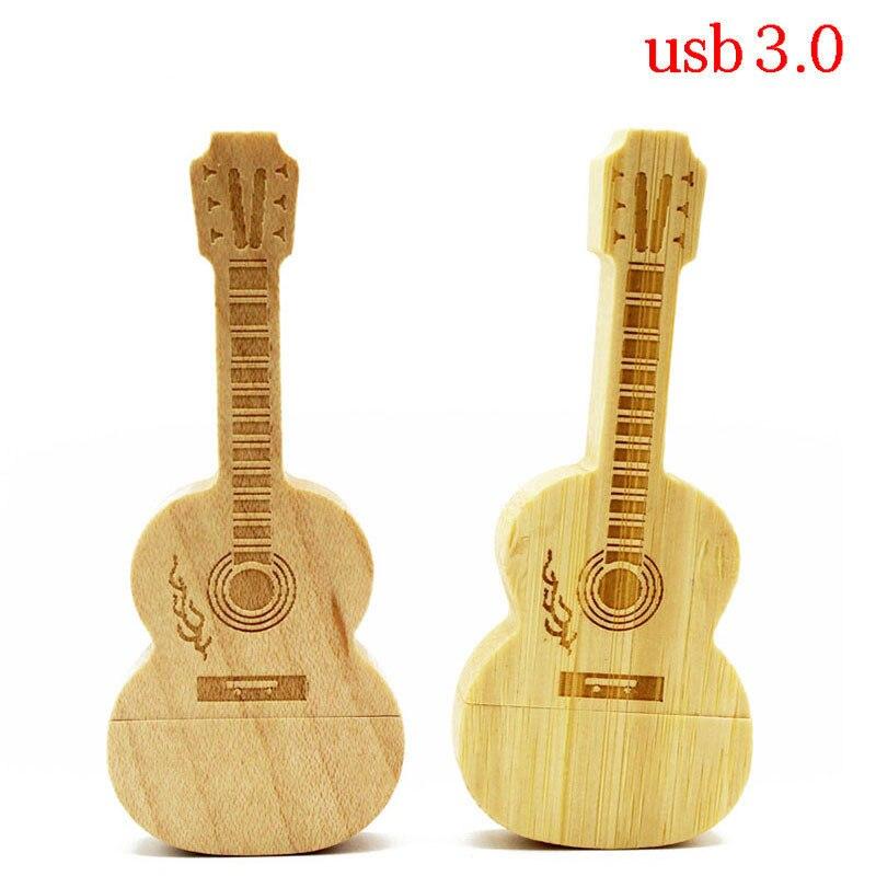 BiNFUL Usb 3.0 Order LOGO Maple Wood Guitar Style  Pendrive 4gb 8gb 16gb 32gb Usb3.0 Usb Flash Drive Gift Pendrive