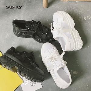 Image 5 - SWYIVY Lưới Giày Dành Cho Nữ 2019 Mới Nữ Trắng Thoáng Khí Nữ Giày Thấp Cắt Nền Tảng Sneakers Nữ