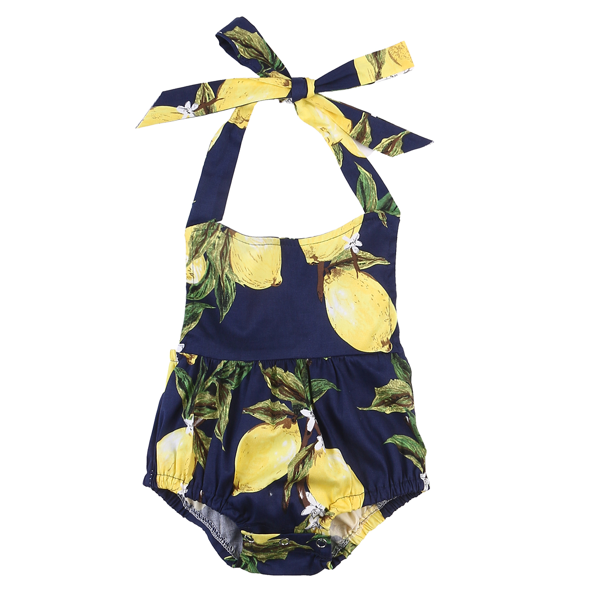 Summer 2017 Newborn Infant Baby Girls Romper Pear Floral Sleeveless Romper Cute Jumpsuit Outfit Baby Girl Clothing Sunsuit