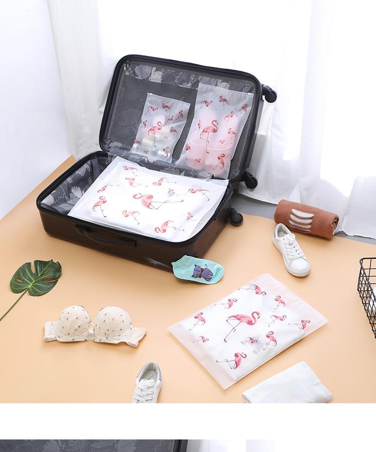 Soomile-Transparent-multi-purpose-waterproof-sealed-travel-bag-Flamingo-EVA-Travel-Organizer-Clothes-and-shoes-sorting-bags-NEW_01