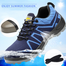 2019 labor insurance shoes breathable lightweight men's anti-mite puncture resistant oil acid and alkali construction site shoes