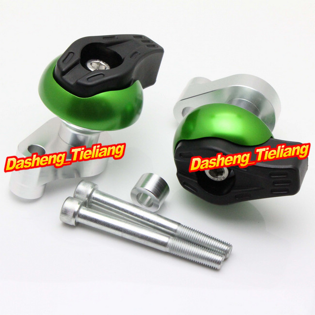 For yamaha YZF R6 2008 2009 2010 2011 2012 Frame Sliders Crash Pads Protector, Motorcycle Spare Parts Accessories, Green Color free shipping motorcycle engine cover frame sliders crash protector for honda cbr1000rr 2008 2009 2010 2011 2012