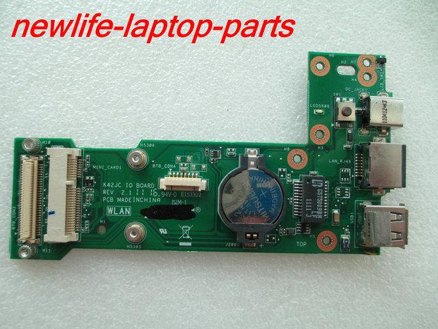 NUEVA original K42JA K42Jc K42JZ K42JP K42JV X42J A42J K42F DC interruptor de alimentación USB LAN JUNTA K42Jc IO junta prueba de buen envío gratis