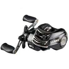 YLT100 11BB 6.3:1 Fishing Reel Max Drag 6kg Bait Cast Reel Magnetic Dual Brake Baitcasting Reel 2 Color Right Handle