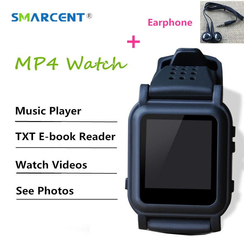 SMARCENT DZ11 Smart Watch 8GB 4GB MP3 MP4 Player with Earphone Support E-book Reader Music Video Picture Viewer Watch MP4 MP3 green for ipod nano3 3th generation 32gb fm video e book with film mp3 5 music player free ship a variety of language