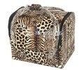Alta qualidade grande caixa de maquiagem Beauty grande Compõem Terapeuta Artista Cosméticos Caso Caixa de Leopardo