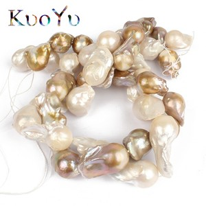 """Image 5 - 14 28MM 100% Natural Big Irregular Baroque Pearl Freshwater Beads High Quality For Bracelet Necklace DIY Jewelry Making 15""""White"""