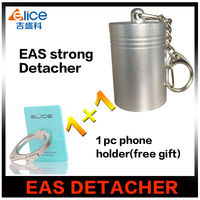 Free Shipping 1pc 12000GS Portable Magnet Eas Tag Remover Strong 12000gs Detacher 1 Pcs Ring Holder