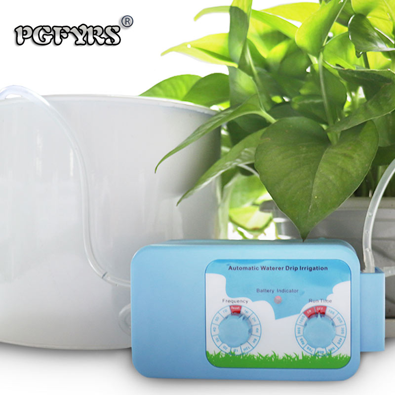 NEW 2019 Two Dial Automatic watering device Intelligent timer 15 pots Garden drip irrigation Supplies Home plant Watering Kits
