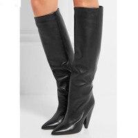 Botines mujer; коллекция 2020 года; сезон осень зима; женские сапоги до колена на высоком каблуке шпильке; цвет красный, черный; непромокаемые сапоги
