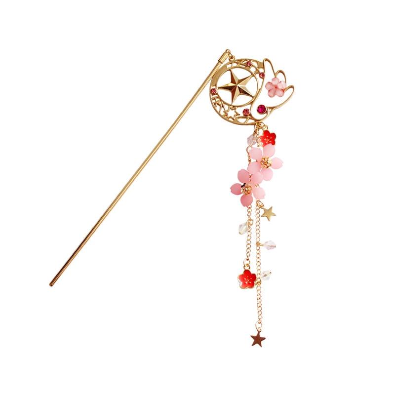 sailor moon card captor cardcaptor sakura hair pin accessories hairpin hairclip costume