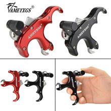 1pc Archery 3 Finger Compound Bow Release Aid Automatic Thumb Trigger Caliper Releases For Outdoor Hunting Shooting Accessoreis