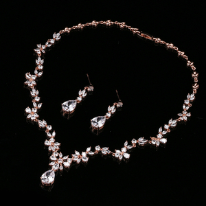 Image 2 - EMMAYA Brand Gorgeous AAA CZ Stones Jewelry Set White Crystal Flower Party Wedding Jewelry Sets For Women