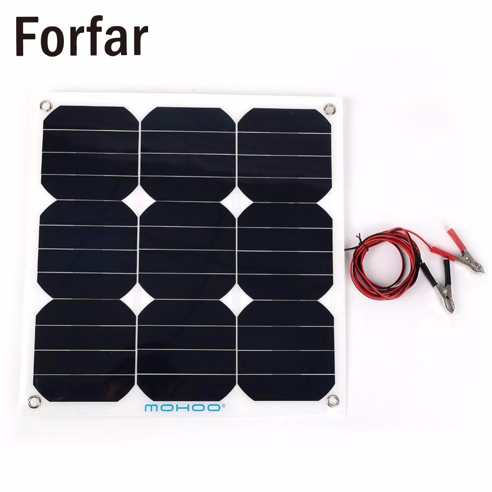 413x415x30mm Portable 30W 18V Solar Power Panel DIY Flexible Boat Car Vehicle Solar Panel For Outdoor Camping Tool 50w 12v epoxy solar panels solar cells battery flexible polycrystalline silicon diy solar modules pro for boat rv car 540x550mm