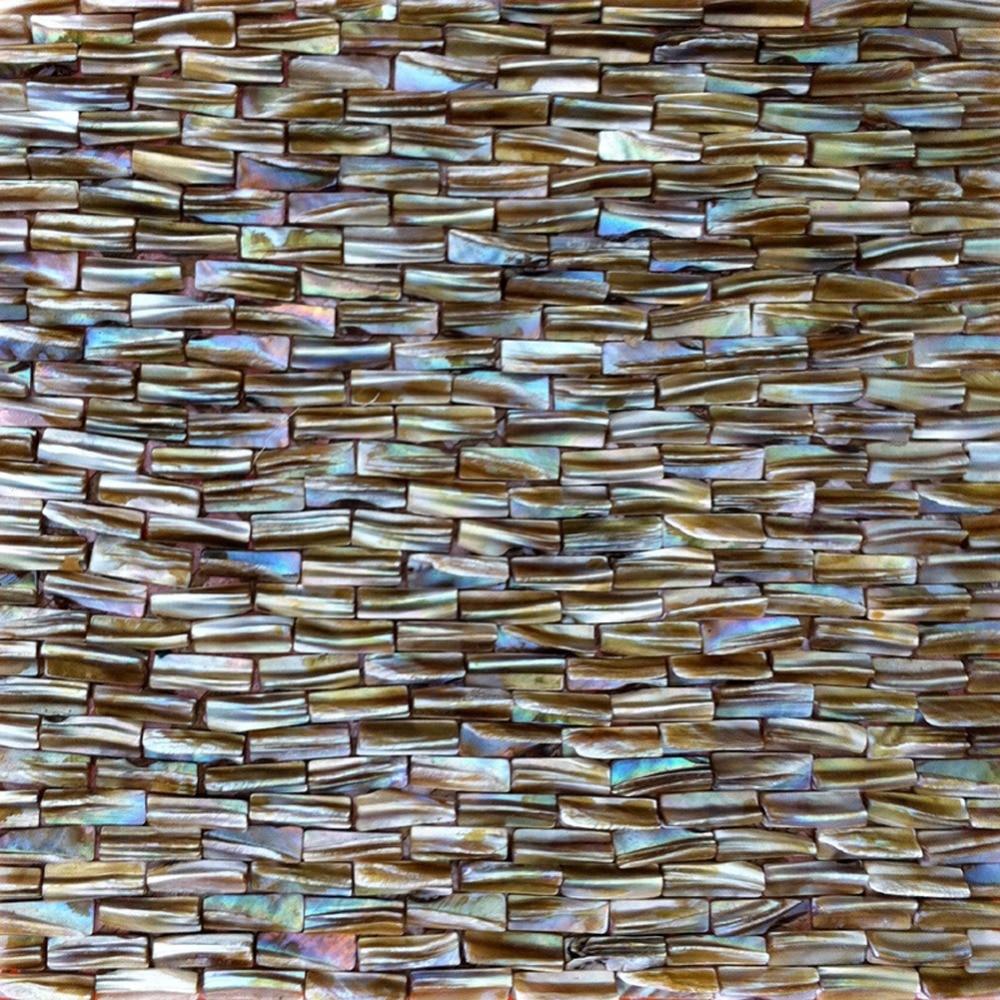 """12 Awesome Backsplashes That Aren T Tile: Backsplash Wall Tile 12"""" X 12"""" Natural 3d Mosaic Tiles For"""